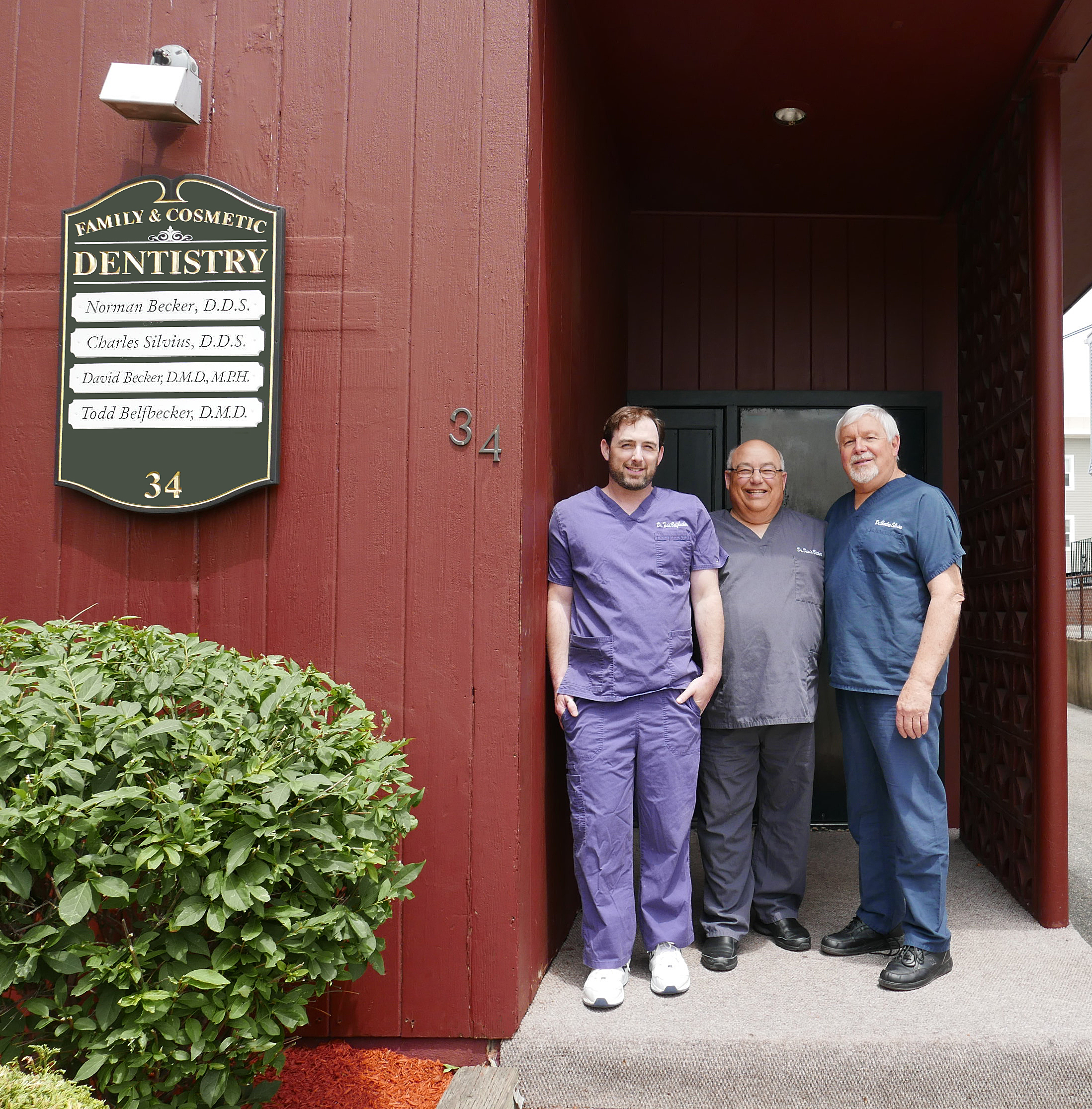 Dr. Todd Belfbecker, Dr. David Becker and Dr. Charles Silvius